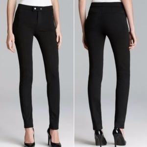 VINCE STRETCH SKINNY PANTS WITH ANKLE ZIPPERS